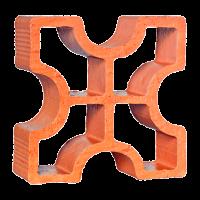 Elemento Vazado Cerâmico Reto Cruz