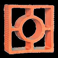 Elemento Vazado Cerâmico Reto Redondo
