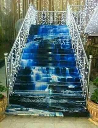 Porcelanato Líquido Desenhado Cachoeira Escada