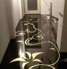 Porcelanato Líquido Desenhado Dourado e Preto