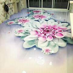 Porcelanato Líquido Desenhado Flor de Lótus
