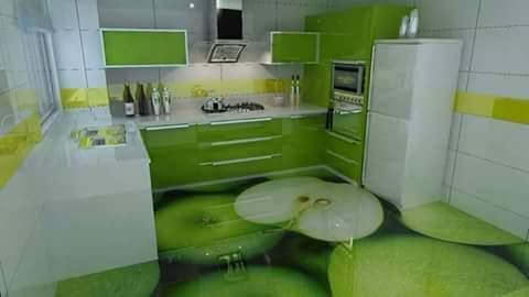 Porcelanato Líquido Desenhado Maçã Verde