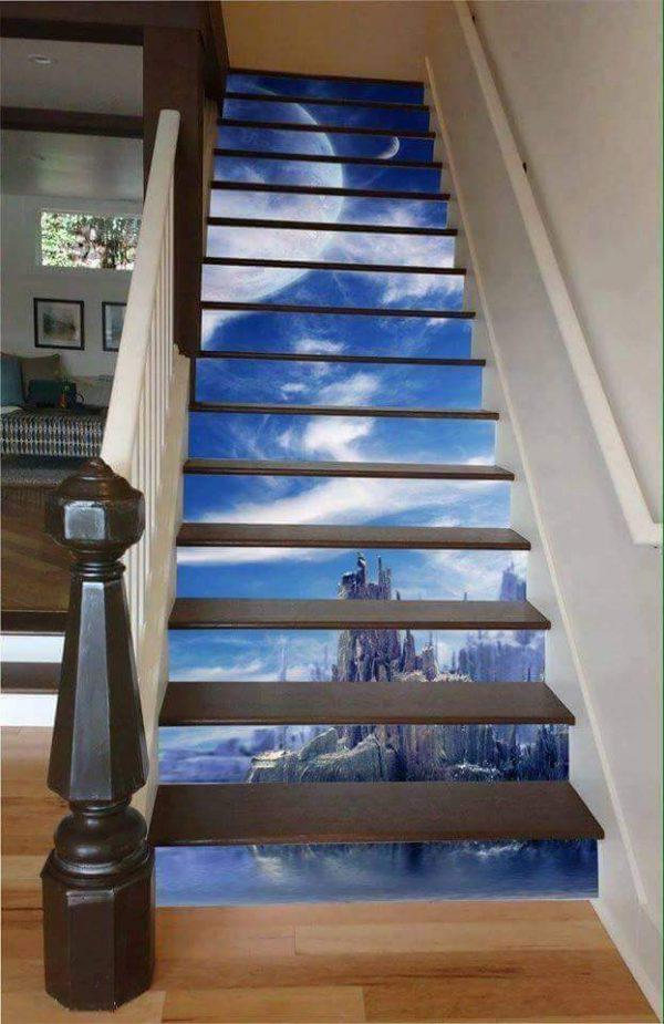 Porcelanato Líquido Desenhado Montanha Escada