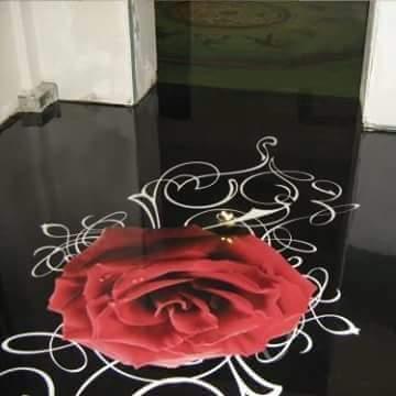 Porcelanato Líquido Desenhado Rosa Vermelha