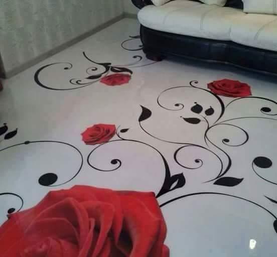 Porcelanato Líquido Desenhado Rosas Arabesco