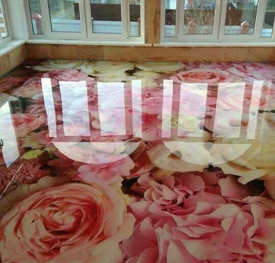 Porcelanato Líquido Desenhado Rosas Grandes